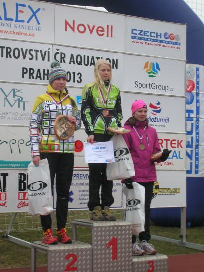 Bára Antošová 2.místo M ČR aquatlon Praha